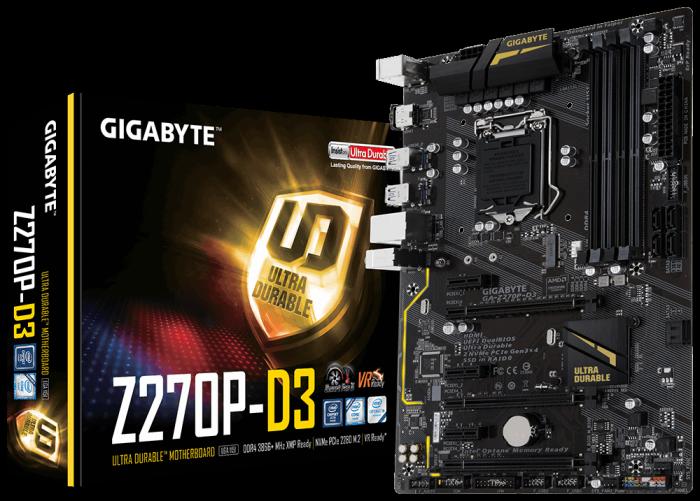 技嘉 Z270P-D3 (DDR4記憶體) +  AOC E2280SWN