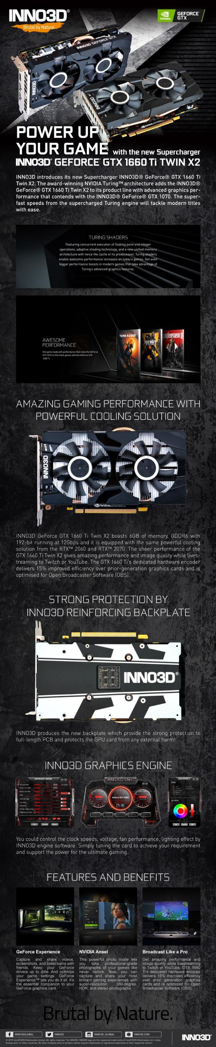 INNO3D GTX1660Ti Twin X2 6G GDDR6