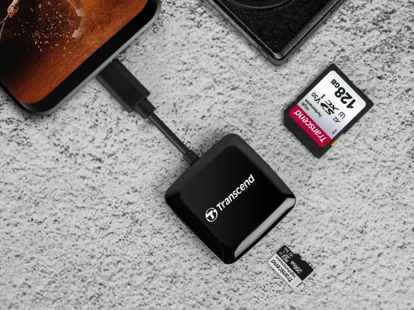 創見 C3 OTG USB3.2 TYPE-C 讀卡機 黑